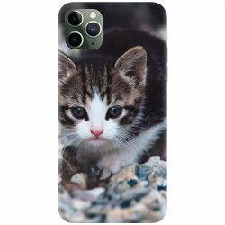 Husa silicon pentru Apple iPhone 11 Pro Max Animal Cat Huse Telefoane