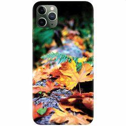 Husa silicon pentru Apple iPhone 11 Pro Max Autumn Leaves