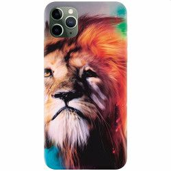 Husa silicon pentru Apple iPhone 11 Pro Awesome Art Of Lion Huse Telefoane