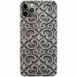 pret preturi Husa silicon pentru Apple iPhone 11 Pro Max Baroque Silver Pattern