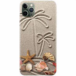 Husa silicon pentru Apple iPhone 11 Pro Beach Sand Huse Telefoane