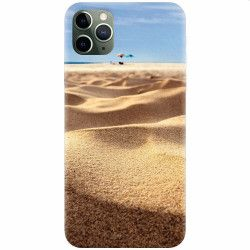 Husa silicon pentru Apple iPhone 11 Pro Max Beach Sand Closeup Holiday Huse Telefoane