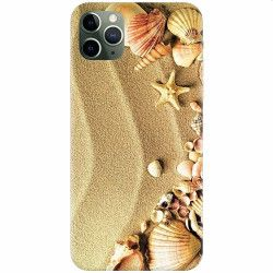 Husa silicon pentru Apple iPhone 11 Pro Max Beach Sand Gold Huse Telefoane