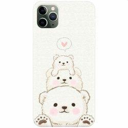 Husa silicon pentru Apple iPhone 11 Pro Max Bear Family Huse Telefoane
