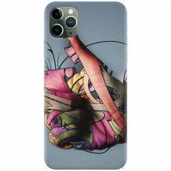 Husa silicon pentru Apple iPhone 11 Pro Max Beautiful Hand Art Huse Telefoane