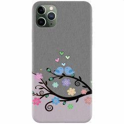 Husa silicon pentru Apple iPhone 11 Pro Max Bird Love Huse Telefoane