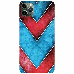 Husa silicon pentru Apple iPhone 11 Pro Blue And Red Abstract Huse Telefoane