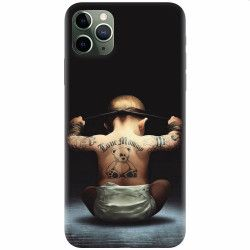 Husa silicon pentru Apple iPhone 11 Pro Max Body Builder Cute Baby Tattoo Huse Telefoane