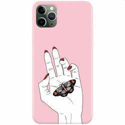 pret preturi Husa silicon pentru Apple iPhone 11 Pro Butterfly In Hand