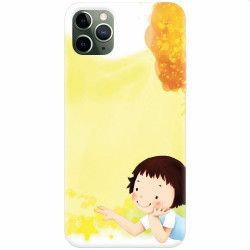Husa silicon pentru Apple iPhone 11 Pro Child Autumn Paint Hd Huse Telefoane