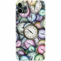 Husa silicon pentru Apple iPhone 11 Pro Clocks Huse Telefoane