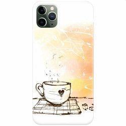Husa silicon pentru Apple iPhone 11 Pro Max Coffe Love Huse Telefoane