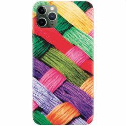 pret preturi Husa silicon pentru Apple iPhone 11 Pro Colorful Woolen Art