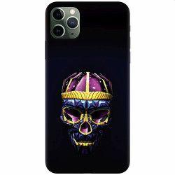 Husa silicon pentru Apple iPhone 11 Pro Colorfull Skull Huse Telefoane