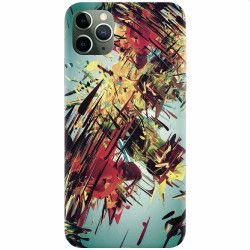 Husa silicon pentru Apple iPhone 11 Pro Complex Abstract Colorful 3D Drawing Huse Telefoane