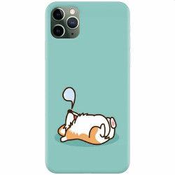 Husa silicon pentru Apple iPhone 11 Pro Cute Corgi Huse Telefoane
