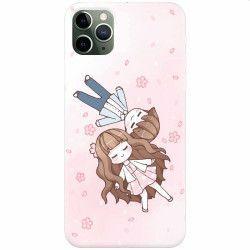 Husa silicon pentru Apple iPhone 11 Pro Max Cute Couple Huse Telefoane