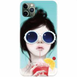 Husa silicon pentru Apple iPhone 11 Pro Cute Girly 001 Huse Telefoane