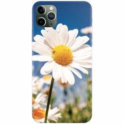 Husa silicon pentru Apple iPhone 11 Pro Max Daisies Field Flowers