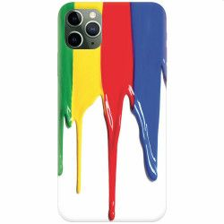 Husa silicon pentru Apple iPhone 11 Pro Dripping Colorful Paint Huse Telefoane