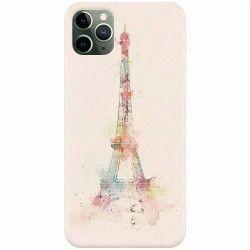 Husa silicon pentru Apple iPhone 11 Pro Max Eiffel Tower 001 Huse Telefoane