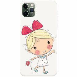 Husa silicon pentru Apple iPhone 11 Pro Fetita Huse Telefoane