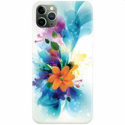 Husa silicon pentru Apple iPhone 11 Pro Max Flower 011