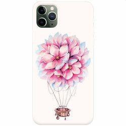 Husa silicon pentru Apple iPhone 11 Pro Flower Baloon Huse Telefoane