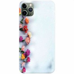 Husa silicon pentru Apple iPhone 11 Pro Flowers Huse Telefoane