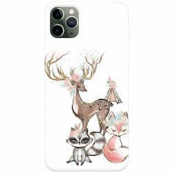 Husa silicon pentru Apple iPhone 11 Pro Max Foxs And Deer