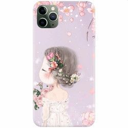 Husa silicon pentru Apple iPhone 11 Pro Max Girl 001 Huse Telefoane