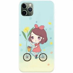 Husa silicon pentru Apple iPhone 11 Pro Girl And Bike Huse Telefoane