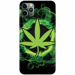 Husa silicon pentru Apple iPhone 11 Pro GreenFlames Huse Telefoane