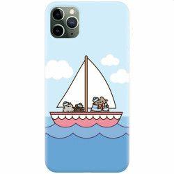 Husa silicon pentru Apple iPhone 11 Pro Max Happy Sailors Huse Telefoane
