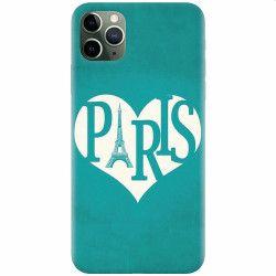 Husa silicon pentru Apple iPhone 11 Pro I Love Paris Huse Telefoane