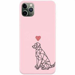 Husa silicon pentru Apple iPhone 11 Pro Love Dog Huse Telefoane