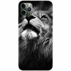Husa silicon pentru Apple iPhone 11 Pro Majestic Lion Portrait Huse Telefoane