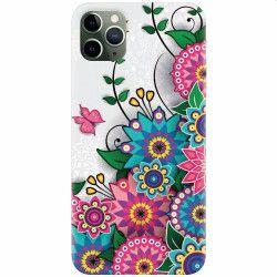 Husa silicon pentru Apple iPhone 11 Pro Mandala Flowers Huse Telefoane