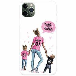 Husa silicon pentru Apple iPhone 11 Pro Max Mom Life