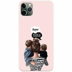 Husa silicon pentru Apple iPhone 11 Pro Max Mom Of Boys Huse Telefoane