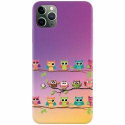 Husa silicon pentru Apple iPhone 11 Pro Owls Huse Telefoane
