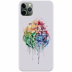 Husa silicon pentru Apple iPhone 11 Pro Max Paint Illustration Lion Head Huse Telefoane