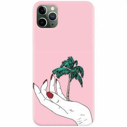 Husa silicon pentru Apple iPhone 11 Pro Max Palm Tree