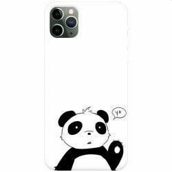 Husa silicon pentru Apple iPhone 11 Pro Panda Cellphone Huse Telefoane