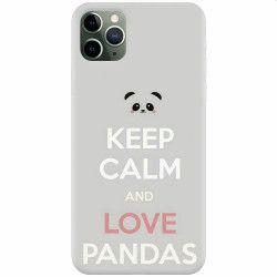 Husa silicon pentru Apple iPhone 11 Pro Max Panda Phone Huse Telefoane