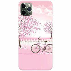 Husa silicon pentru Apple iPhone 11 Pro Pink Spring Huse Telefoane