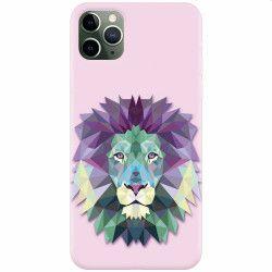 Husa silicon pentru Apple iPhone 11 Pro Polygon Lion Huse Telefoane