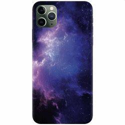 Husa silicon pentru Apple iPhone 11 Pro Purple Space Nebula Huse Telefoane