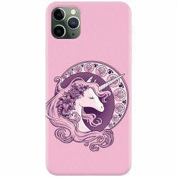 Husa silicon pentru Apple iPhone 11 Pro Max Purple Unicorn Huse Telefoane