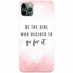 Husa silicon pentru Apple iPhone 11 Pro Max Quotes Pink Huse Telefoane